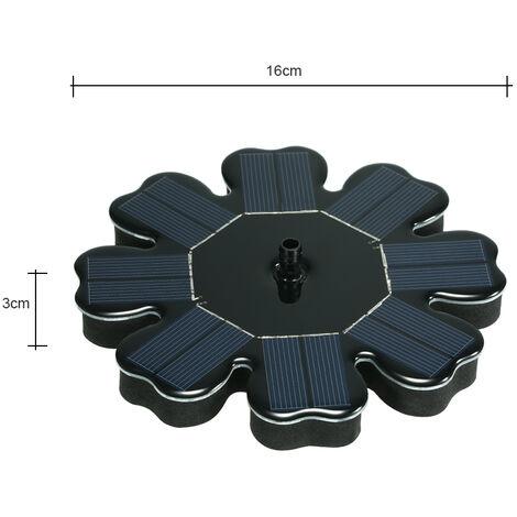 fuente solar, en forma de flor