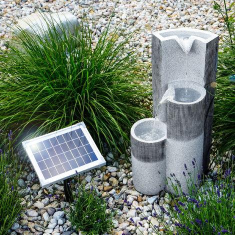 Fuente solar luminosa en cascada para jardín decorativa 101312