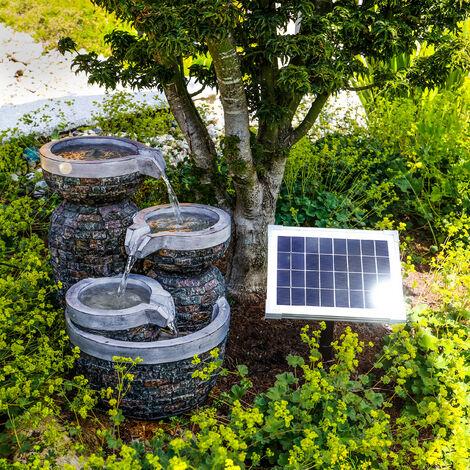 Fuente solar luminosa para jardín esotec 101311