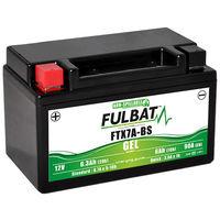 Fulbat - Batería moto Gel YTX7A-BS / FTX7A-BS 12V 6Ah