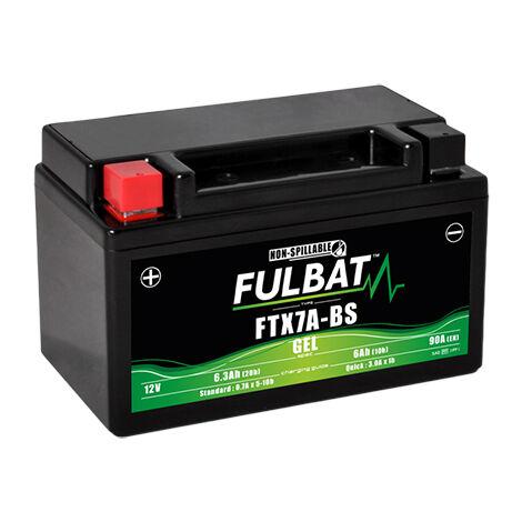 Fulbat - Fulbat - Batterie moto Gel YTX7A-BS / FTX7A-BS 12V 6Ah