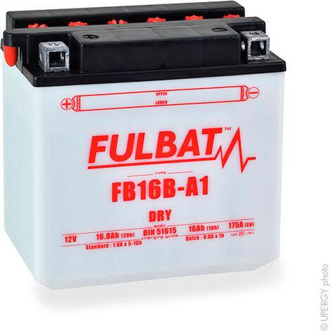 Fulbat - Fulbat - Batterie moto YB16B-A1 12V 16Ah