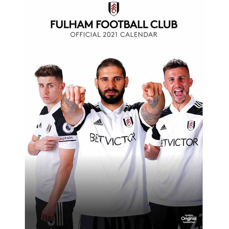 Image of 2021 A3 Calendar (One Size) (White/Black) - Fulham Fc