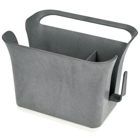 FULL CIRCLE - Bac de rangement évier pour ustensiles - gris