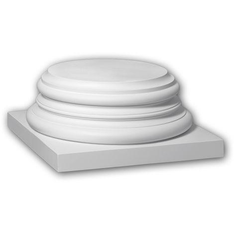Full column base Profhome 413301 Exterior trim Column Facade element Corinthian style white