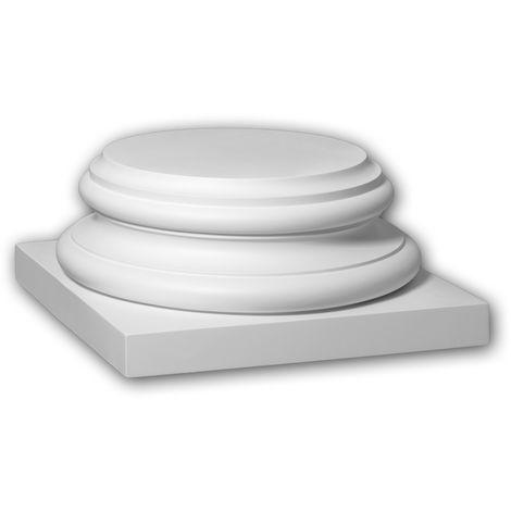 Full column base Profhome 413302 Exterior trim Column Facade element Corinthian style white