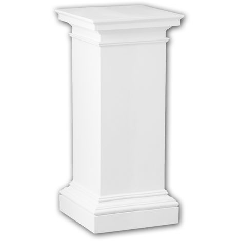 Full column pedestal 114003 Profhome Column Decorative Element Doric style white
