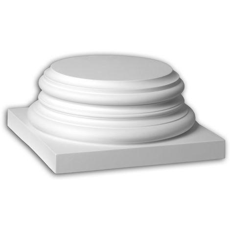 Full column segment Profhome 443301 Exterior trim Column Facade element Corinthian style white