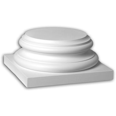 Full column segment Profhome 443302 Exterior trim Column Facade element Corinthian style white