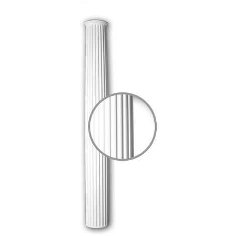 Full column shaft Profhome 412301 Exterior trim Column Facade element Corinthian style white