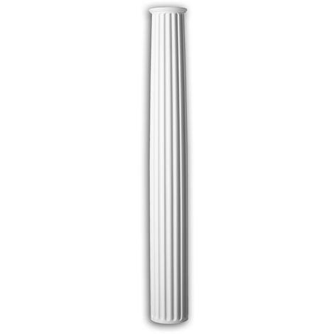 Full column shaft Profhome 442301 Exterior trim Column Facade element Corinthian style white