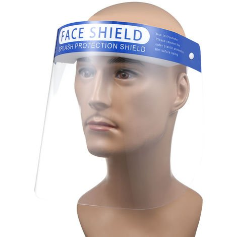 Full Face Cover Droplets-proof Fog-proof Dust-proof Face Shield Protective Cover