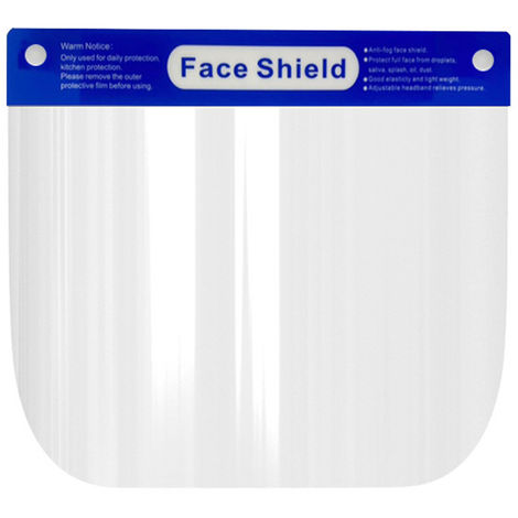 Full Face Shield Windproof Dustproof Hat Protect Eyes and Face with Protective Clear Film Elastic Band