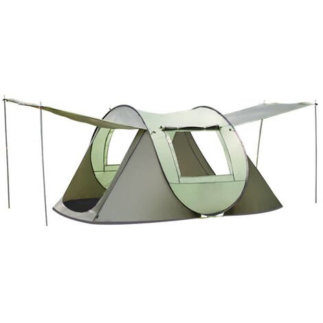Fully Automatic Instant Pop Up Tent Waterproof Camping Tent 3-4 Person