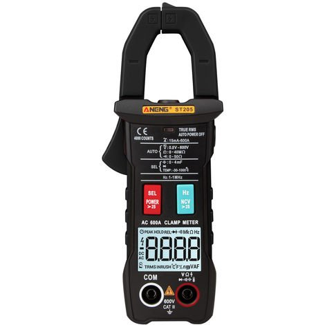Fully Intelligent Digital Multimeter without battery black