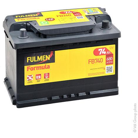 Fulmen - Batería para coche FULMEN Formula FB740 12V 74Ah 680A
