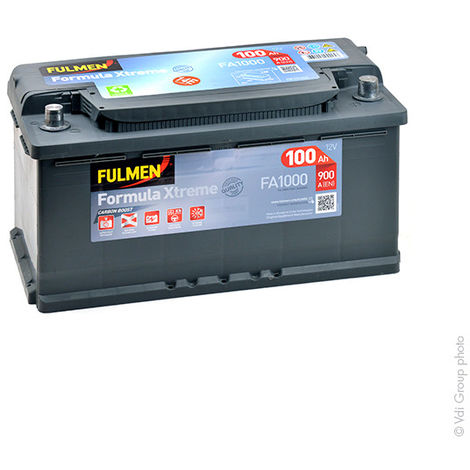 Fulmen - Batería para coche FULMEN Formula Xtreme FA1000 12V 100Ah 900A