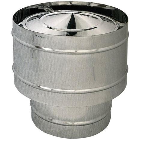 FUMAIOLO ANTIVENTO per STUFA PELLET in ACCIAIO INOX304 Diametro 12 cm