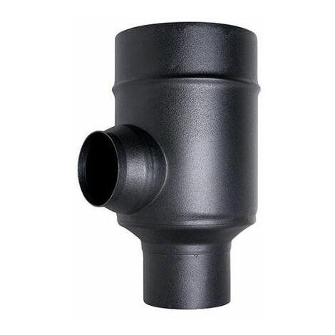 fumée COAXIAL tuyau noir D. 80/130 ÉLÉMENT DIVISEUR CE 316 acier poêle à granulés fabriqué en Italie UNI 1856/2