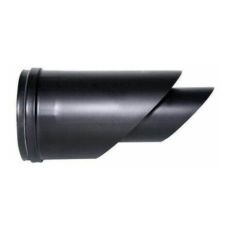 fumée COAXIAL tuyau noir D. 80/130 TERMINAL HORIZONTAL CE en acier 316, poêle à granulés en Italie UNI 1856/2