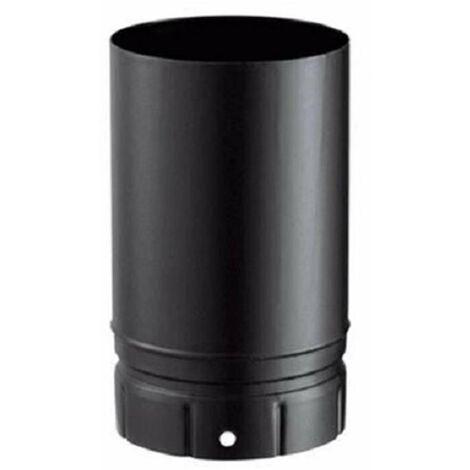 Fumisterie émaillée pour poêle à bois - Tuyau élément droit 100 cm - Diamètre : 150 - Couleur : Noir Mat