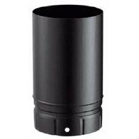 Fumisterie émaillée pour poêle à bois - Tuyau élément droit 25 cm - Diamètre : 150 - Couleur : Noir Mat