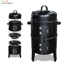 Fumoir barbecue avec thermometre