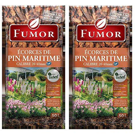 FUMOR - Ecorces de pin Maritime 100L- Ideal pour Les massifs Les Pieds des vegetaux Plantes de Terre Bruyere 100% Naturel - FUMPIN
