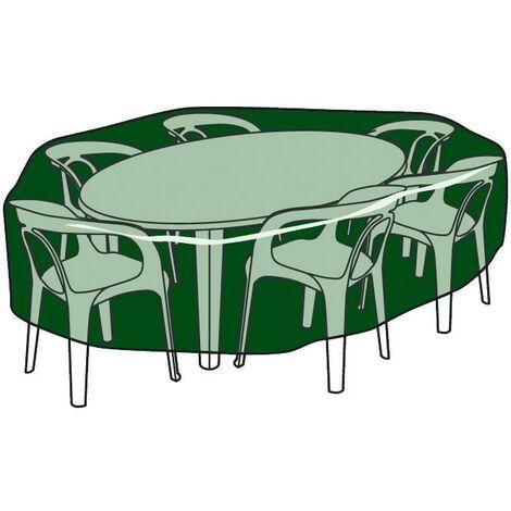 Funda circular cubre mesas y sillas de polietileno 120 cm x 90 cm