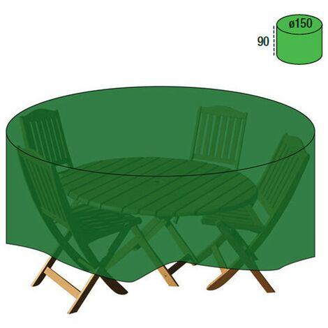 Funda cubre mesa / conjunto diámetro 150x90 cm.