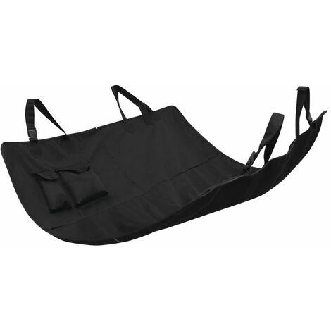 Funda de asiento de coche para mascotas 148x142 cm negra