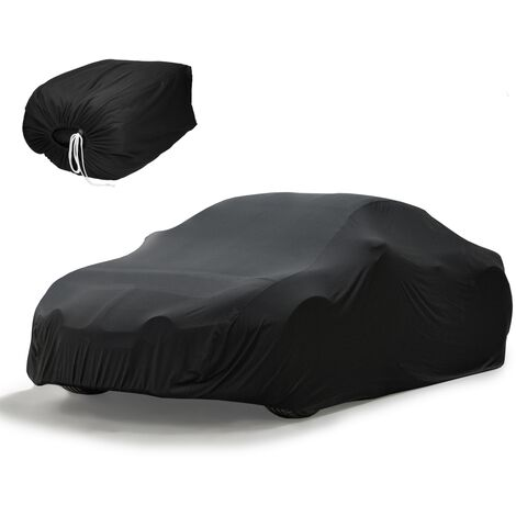 Funda de coche interior negra super suave transpirable tela med 431x165x119 cm