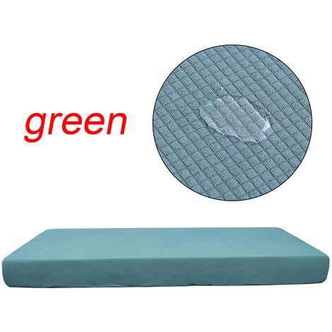 Funda de cojín elástica impermeable de poliéster para sofá beige - 3 lugares