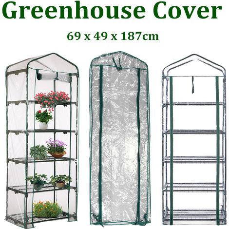 Funda de invernadero 5 niveles 69 x 49 x 187 cm Cubierta de planta duradera Protección contra insectos LAVENTE