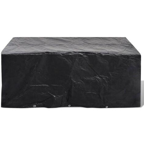 Funda de muebles de jardín de ratán 10 ojales 240x260 cm