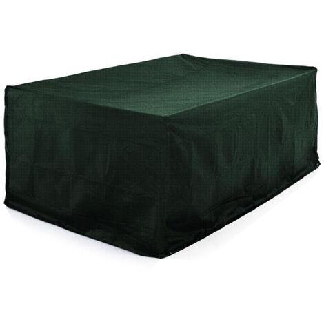Funda de protección -para salón de jardin | a prueba de polvo Impermeable -308*138*89cm (Verde)