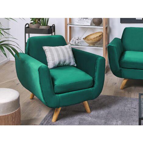 Funda de sillón de terciopelo verde BERNES