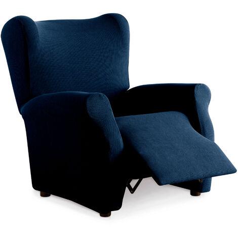 Funda de Sillon Elástica Relax Reclinable. Milan. Azul