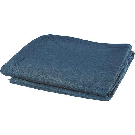 Funda de sofá 3 plazas azul oscuro GILJA