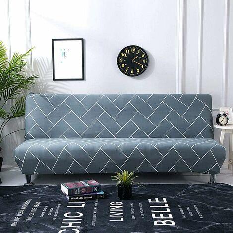 Funda de sofá cama LITZEE para funda de sofá integral sin reposabrazos, elástica estirable, extraíble, protección perfecta para sofá 160-190CM