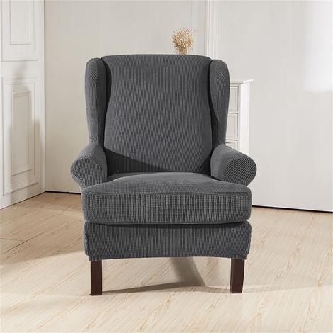 Funda de sofá de 1 plaza con protección elástica impermeable roja Hasaki