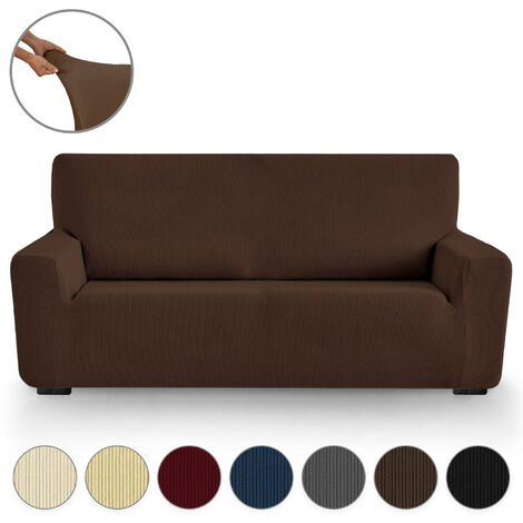 Funda de Sofá Elástica Adaptable Milan 3 Plazas (180-240 cm) Marron