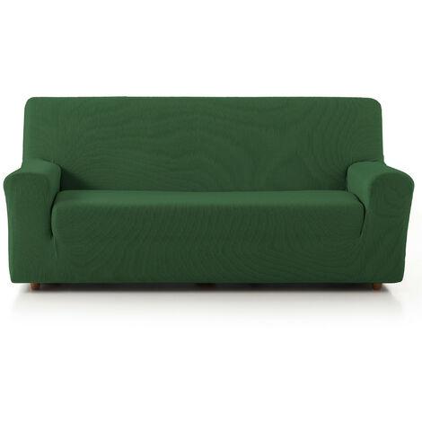 Funda de Sofá Elástica Adaptable. Modelo Rustica. Verde Sofá 3 Plazas
