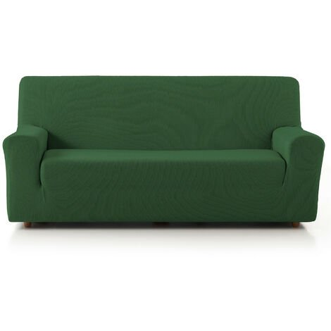 Funda de Sofá Elástica Adaptable. Modelo Rustica. Verde Sofá 4 Plazas