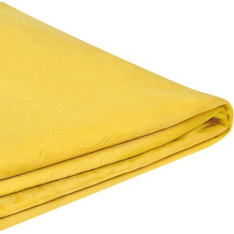Funda de terciopelo amarillo para cama 180 x 200 cm FITOU