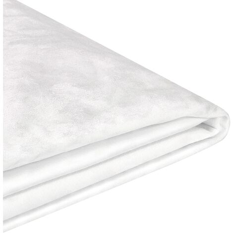 Funda de terciopelo blanco para cama 180 x 200 cm FITOU