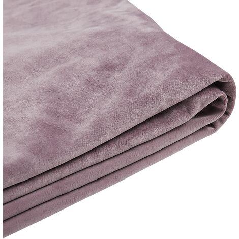 Funda de terciopelo rosa para cama 180 x 200 cm FITOU