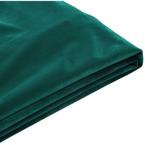 Funda de terciopelo verde oscuro para cama 180 x 200 cm FITOU