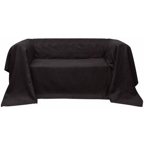 Funda marrón para sofá de micro-gamuza, 270 x 350 cm