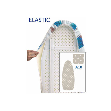 Funda mesa planchar elastic BLANCA SIMBOLOS NEGROS Ambit
